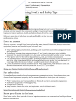 cdc - gardening health and safety tips - family health