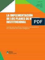 La Implementacion De Los Planes De Mejora Institucional