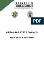 Arkansas Knights of Columbus Newsletter June 2015