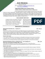 VP Business Development eClinical Applications in Nashville TN Resume John Hedberg