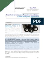 InfoTUB N 13-005 Cálculo de Espesor Del Aislamiento de Tuberías Plásticas Dic'13