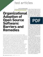 Organizational Adoption of Open Source Software