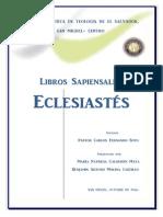 Trabajo Eclesiastes Final