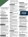 2010 Pedometer Instructions