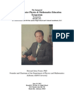 Howard J. Foster Physics & Mathematics Education Symposium