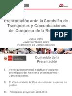 Viceministro de Comunicaciones en Congreso del Perú