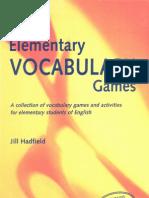 Elementary Vocabulary Games