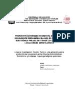 Tesis Doctoral de Los Gobiernos Locales