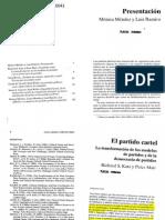 Katz y Mair_El Partido Cartel_La Transformación de Los Modelos de Partidos