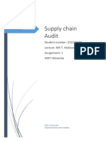 Supply Chain Audit