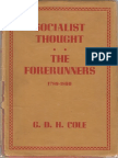 A History of Socialist Thought Vol 1