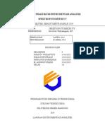 Laporan Praktikum Spektrofotometri UV