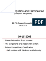 pattern recognition speech