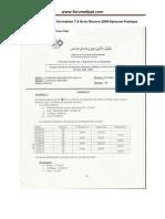 Examen de Fin de Formation 2009 Pratique Tsgo Gros Oeuvre Variante 23