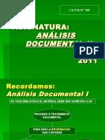 Análisis Documental II- Presentación..