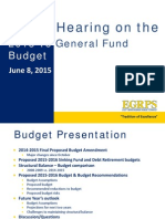 EGRPS June 2015 Budget Hearing