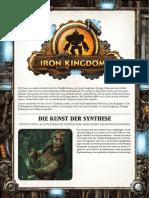 Iron Kingdoms Freebies - Alchemie