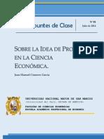 Sobre la idea de proceso económico en la Ciencia Económica