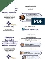 Programa Conferencia y Seminario Sociedad Civil