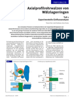 AxialprofilrohrwalzenWälzlagerringen-Teil1-ExperimentelleEinflussanalyse