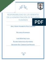 5.- Responsabilidad de Los Gerentes en La Administracion de Los Recursos Humanos