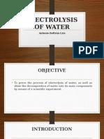 Electrolysis of Water...
