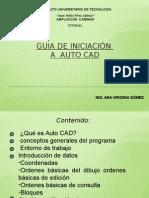 Guía de Iniciación a Auto CAD