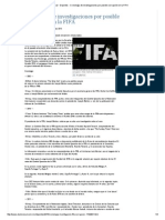 El Universal - Deportes - Cronología de Investigaciones Por Posible Corrupción en La FIFA