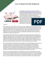 ¿Donde Se Puede Leer Un Ebook? Sin Tinta Weblogs EL PAIS
