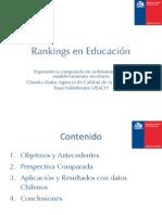 Rankings en Educación.