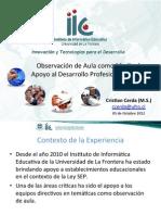 Observación de aula como medio de apoyo al Desarrollo Profesional Docente.