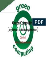 Green Computing - Regilation and Industry Initiatives