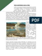 Energía Goetermica en El Peru