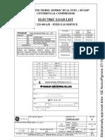 VP-18-101-C-231-001AB-SK-008 ELECTRIC LOAD LIST GAS TURBINE MODEL MS5002C DUAL FUEL + BCL607 CENTRIFUGAL COMPRESSOR