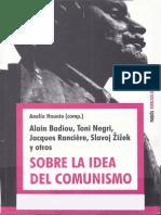 AA.vv - Sobre La Idea de Comunismo I [Badiou, Negri, Ranciere, Zizek, Etc] (Paidos)