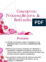 3.1 Conceptos Proceso,Mejora & Rediseño