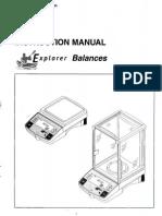 Manual Balanza OHAUS E1H110_EN