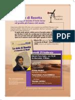 La Stele di Rosetta - Locandina Milano