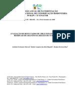 Avaliação de Resultados de Cbr e Expansão de Solos Residuais