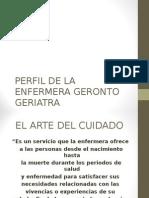 Perfil de La Enfermera Geronto Geriatra