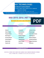 2016 Ieee .Net Parallel and Distributed Project Titles