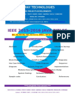 2016 Ieee Java Netowrk Security Project Titles