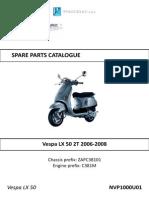 Vespa LX50 Parts Diagrams