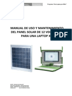 Manual Del Panel Solar Para Laptop XO