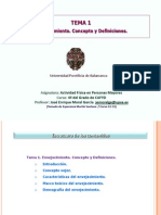 Tema 1. Envejecimiento. Conceptos y Definiciones