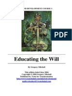 Educating the Will
