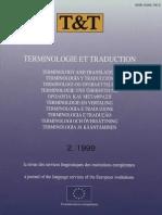 Terminologie Et Traduction