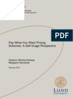 Pay What You Want - A Self Image Perspective