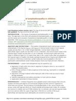 Causes of Lymphadenopathy in Childern