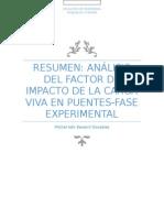 Analisis Factor de Impacto de Carga Viva en Puentes